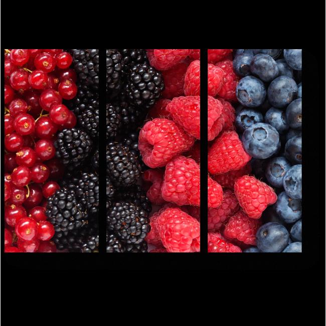 Модульная картина Сочный ягодный микс