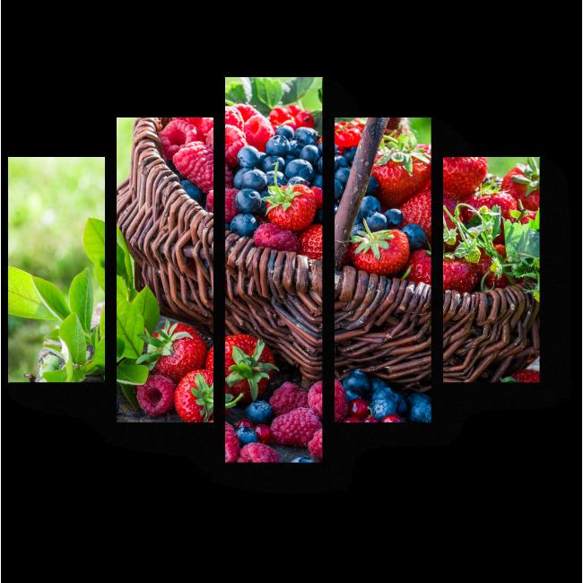 Модульная картина Корзинка с ягодами