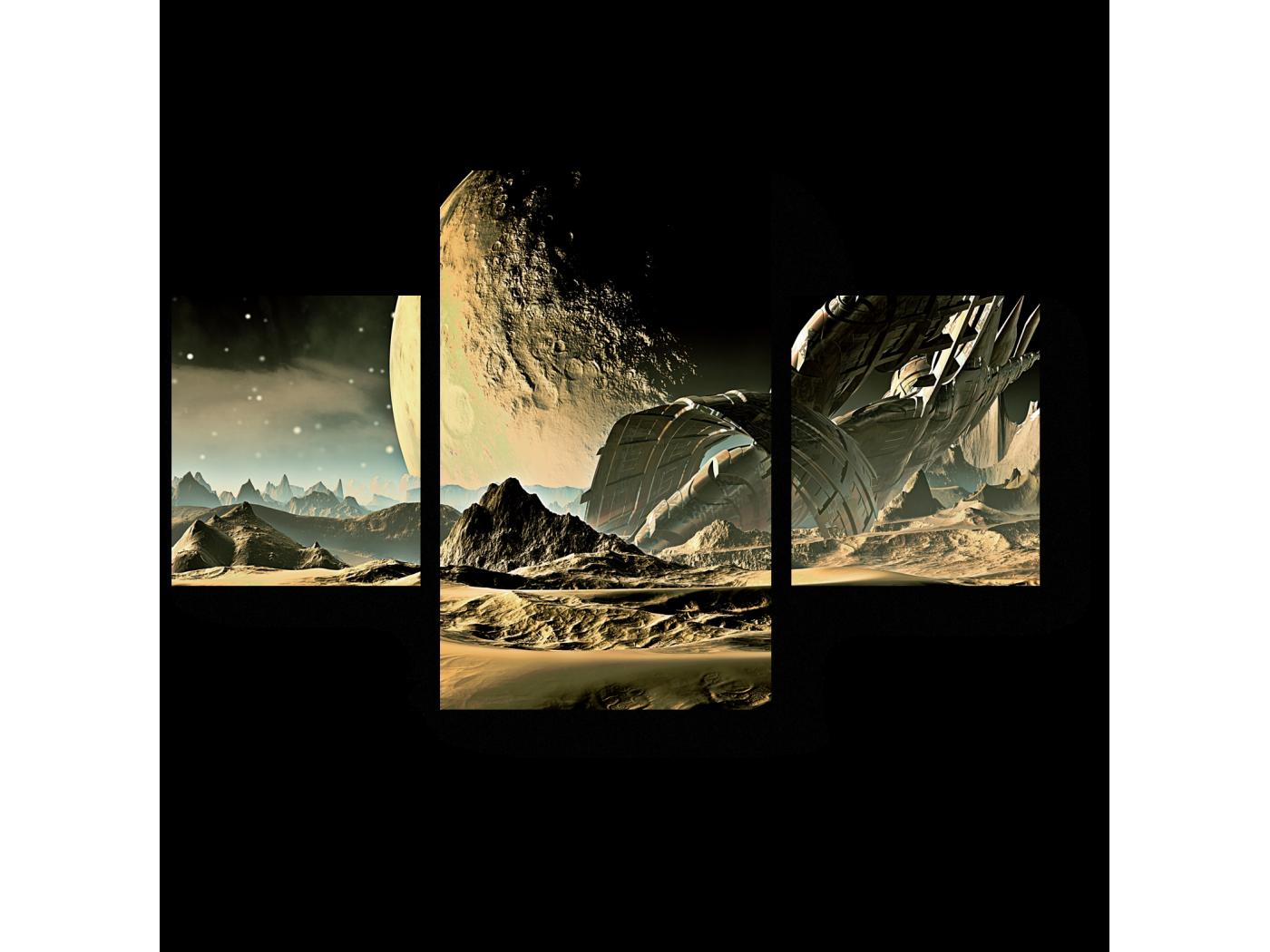 Модульная картина Могучий космос (80x52) фото