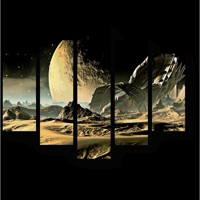 Модульная картина Могучий космос