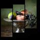 Спелые фрукты в изящной серебряной вазе