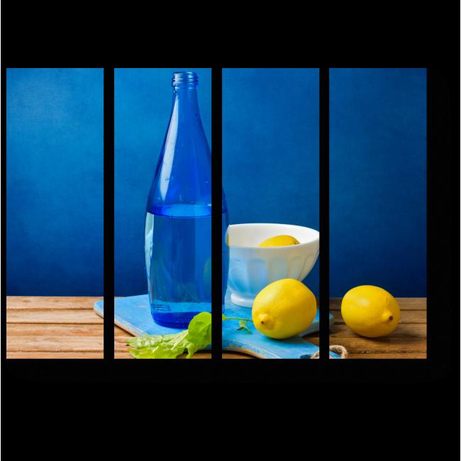 Модульная картина Гармония синего и желтого