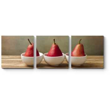 Модульная картина Трио красных груш
