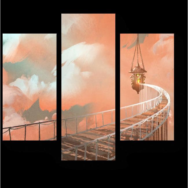 Модульная картина Воздушный мост