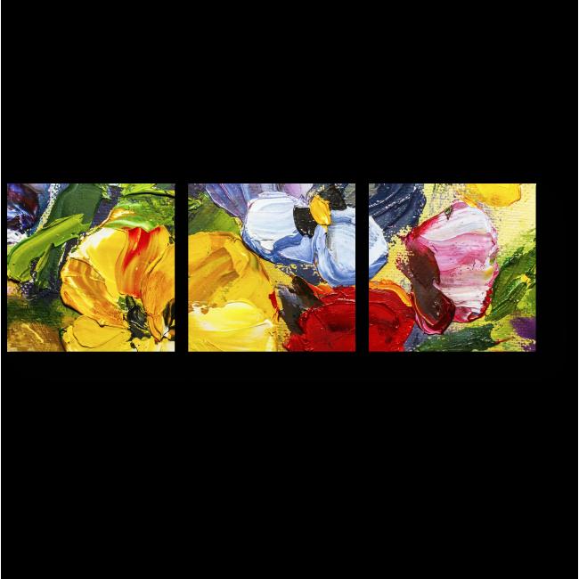 Модульная картина Яркие тропические цветы