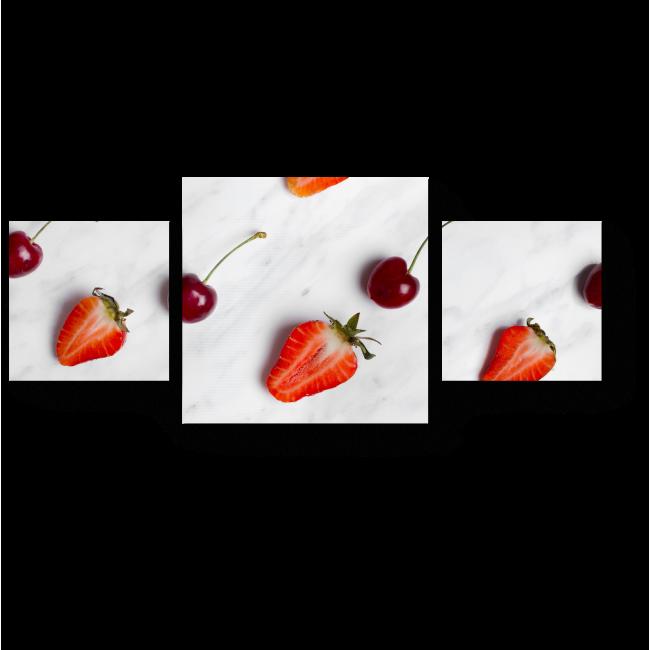 Модульная картина Ягодный минимализм