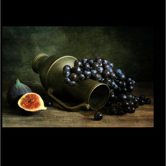 Модульная картина Манящая гроздь винограда