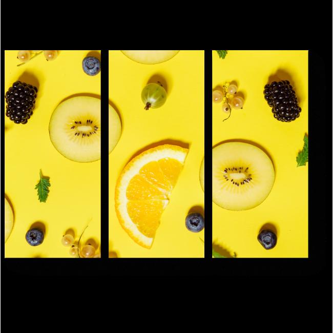 Модульная картина Солнечные фрукты