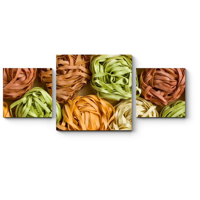 Модульная картина Разноцветная паста