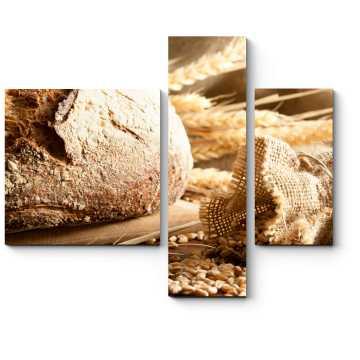 Модульная картина Горячий ароматный хлеб