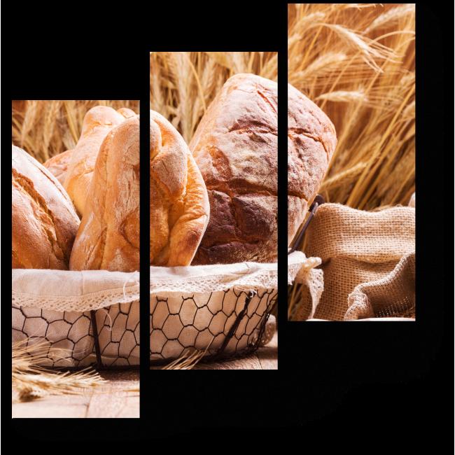 Модульная картина Хлебная корзинка