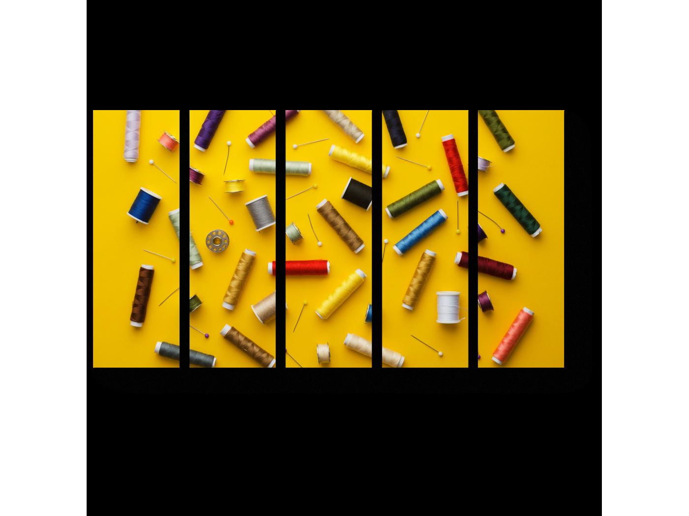 Модульная картина Мечта швеи (90x54) фото