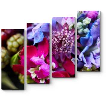 Цветочно-фруктовое ассорти