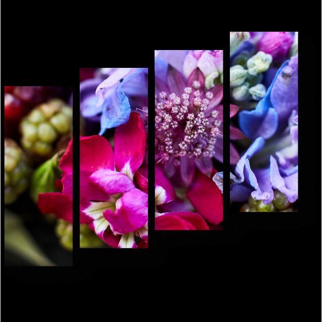 Модульная картина Цветочно-фруктовое ассорти