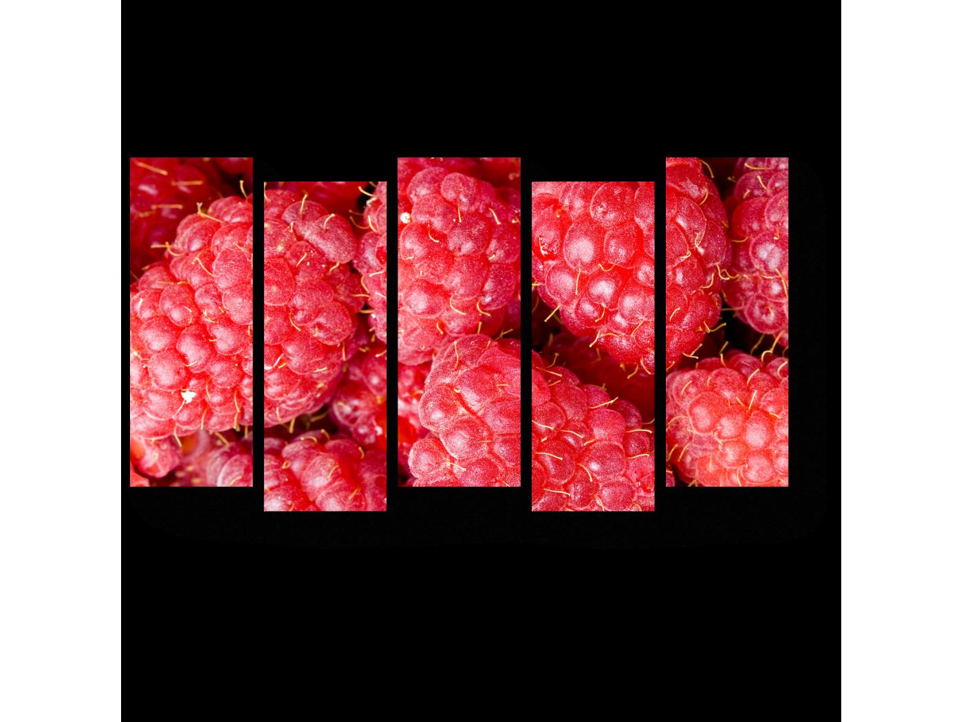 Модульная картина Крупные ягоды малины (90x52) фото