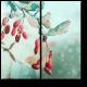 Красные ягоды, припорошенные снежком
