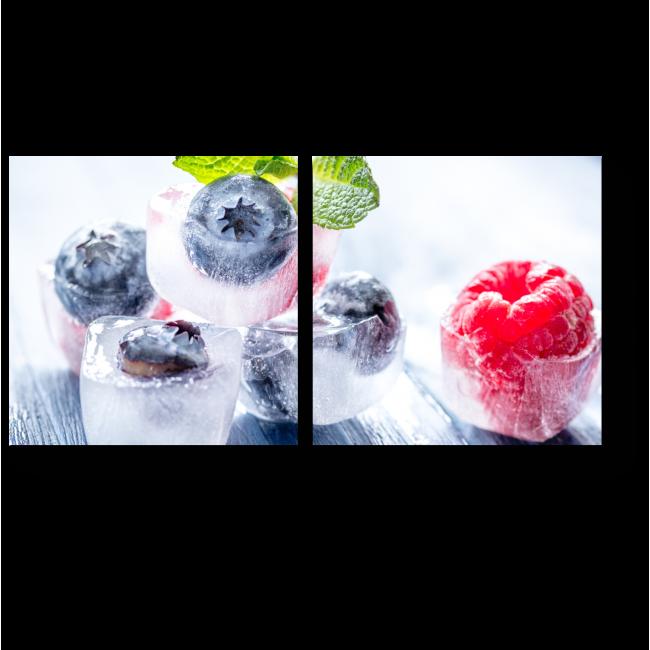 Модульная картина Ягоды во льду