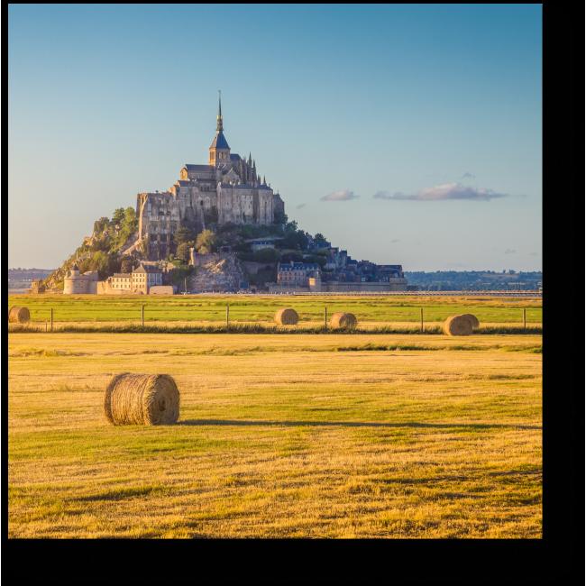 Модульная картина Неповторимый Мон-Сен-Мишель на закате, Франция