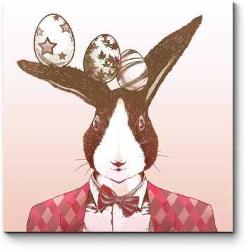 Пасхальный арт кролик