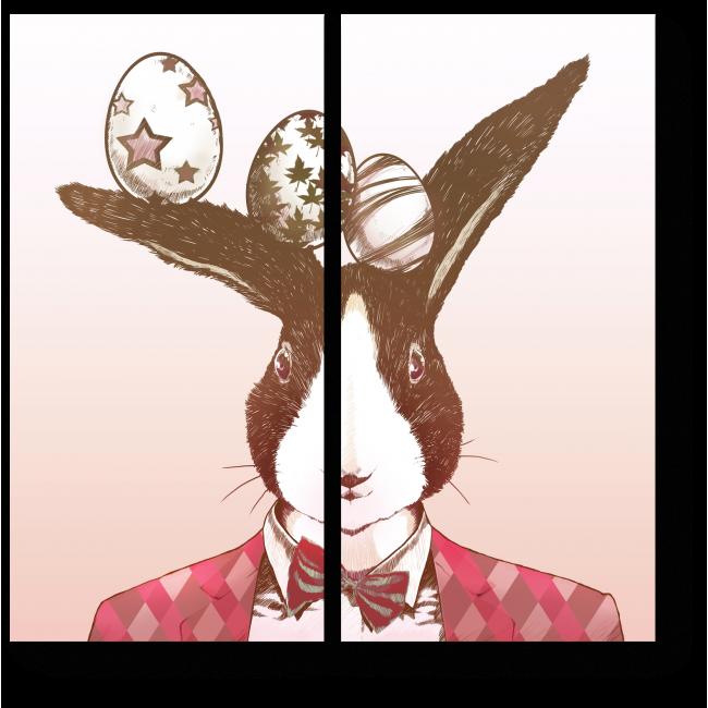 Модульная картина Пасхальный арт кролик