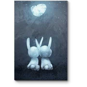 Модульная картина Любовь кроликов