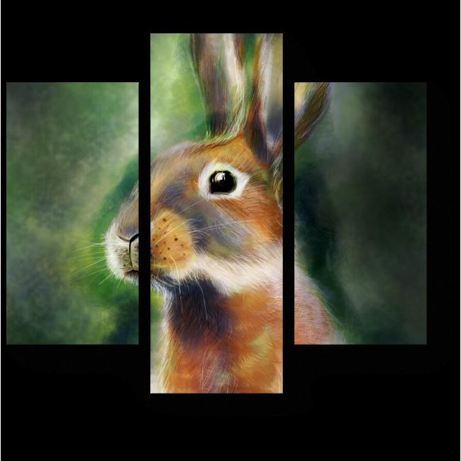 Модульная картина Милый зайчонок