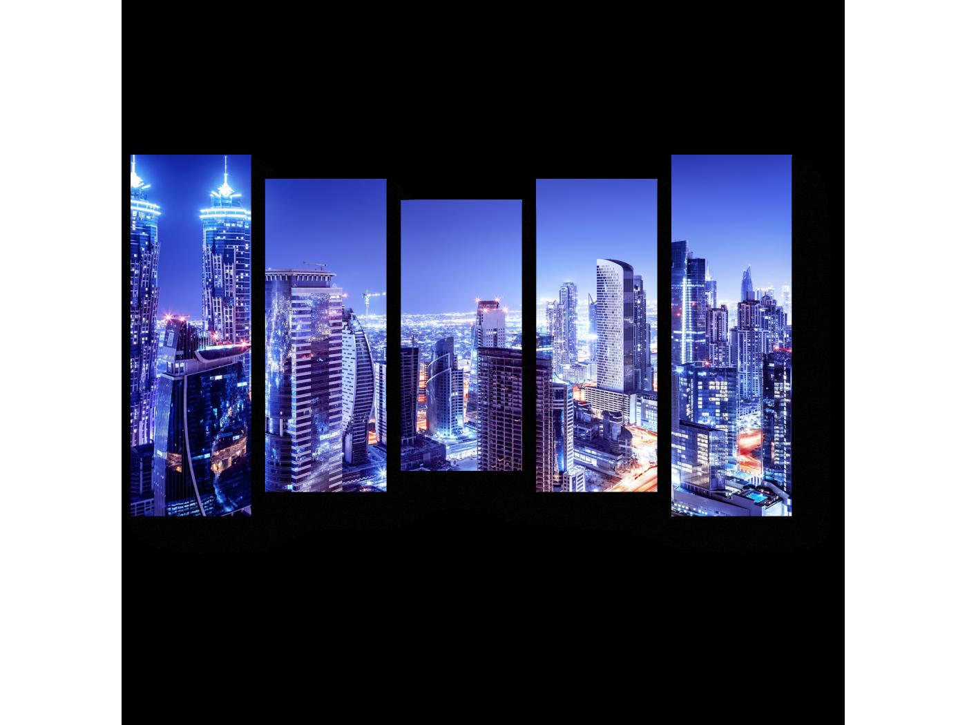 Модульная картина Дубай в сиянии ночных огней (90x54) фото