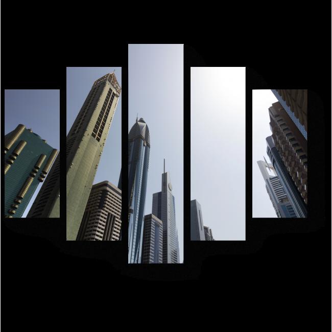 Модульная картина Оазис небоскребов