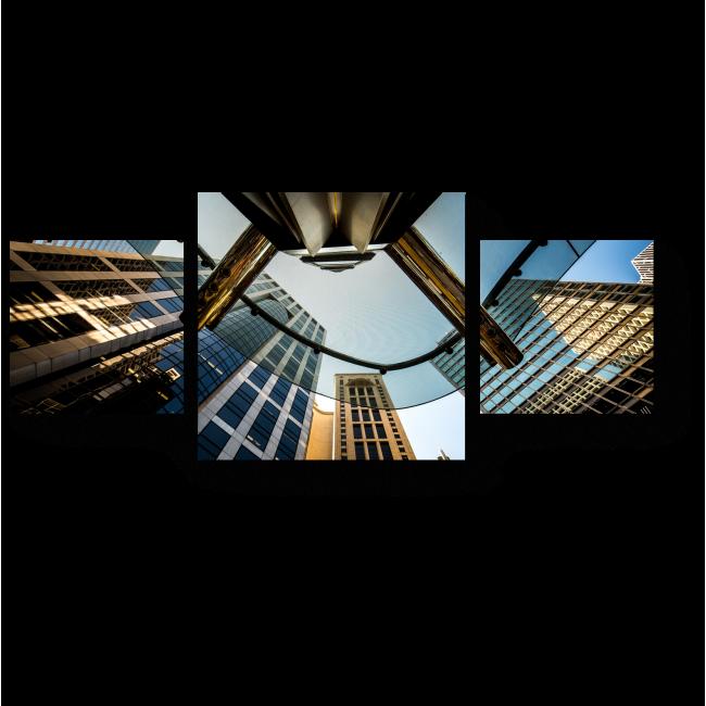 Модульная картина Дыхание города