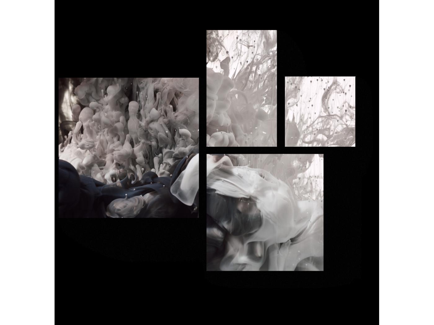 Модульная картина Монохромное слияние (72x60) фото
