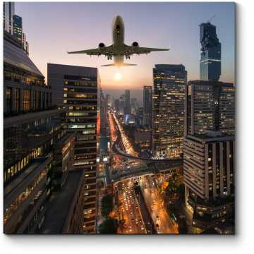 Модульная картина Пролетая над крышами Бангкока