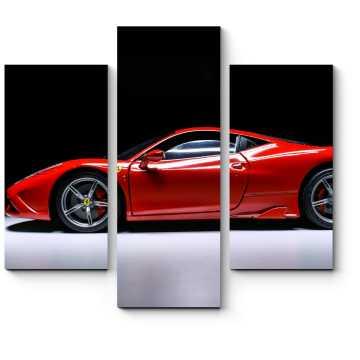 Модульная картина Ferrari 458 красная