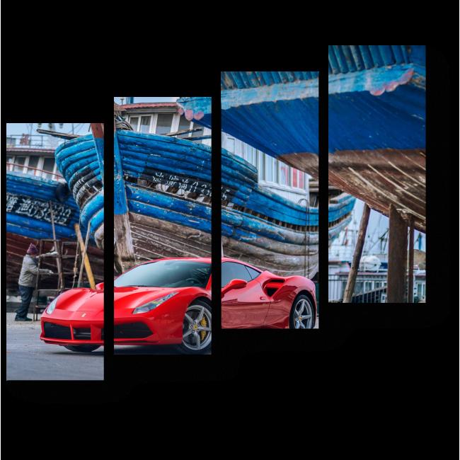 Модульная картина Ferrari 488GTB