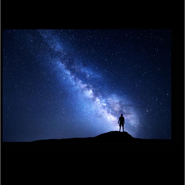 Модульная картина Прекрасный вид на Млечный путь