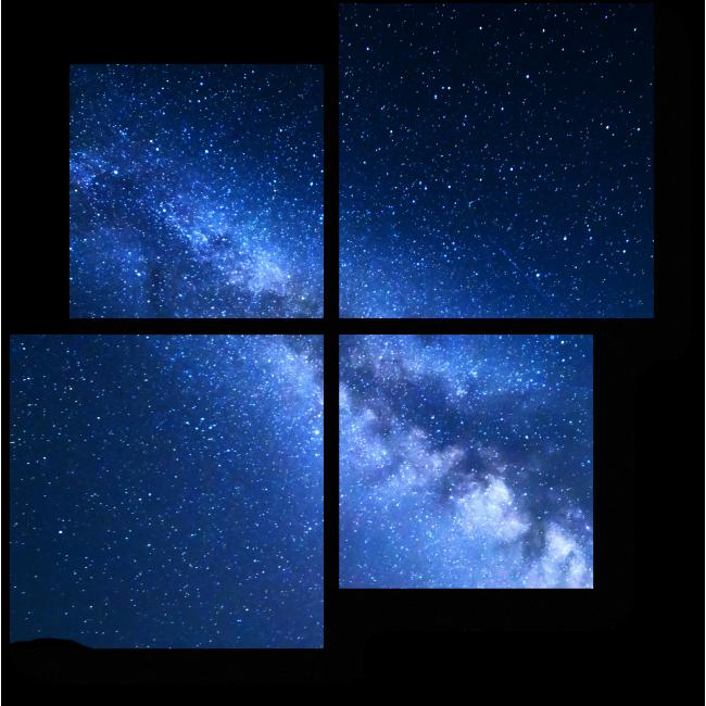 Модульная картина Ночная магия, Млечный путь