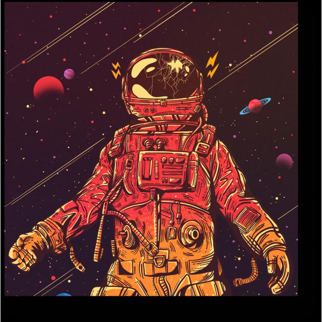 Модульная картина Происшествие на орбите