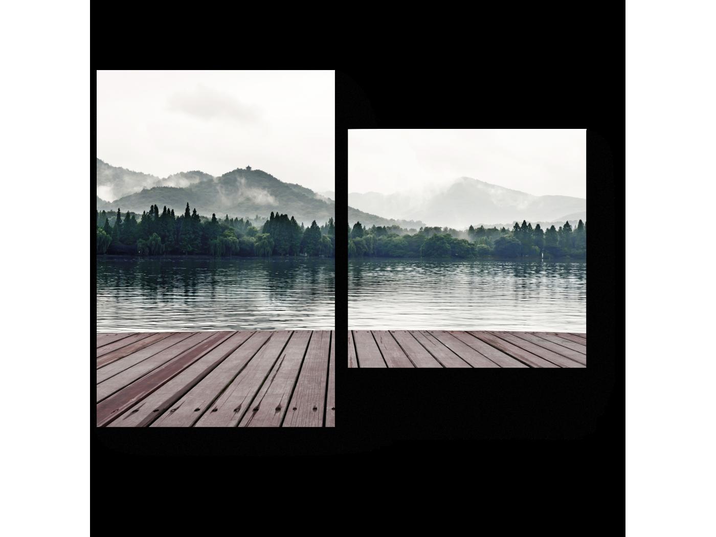 Модульная картина Летнее спокойствие (40x30) фото