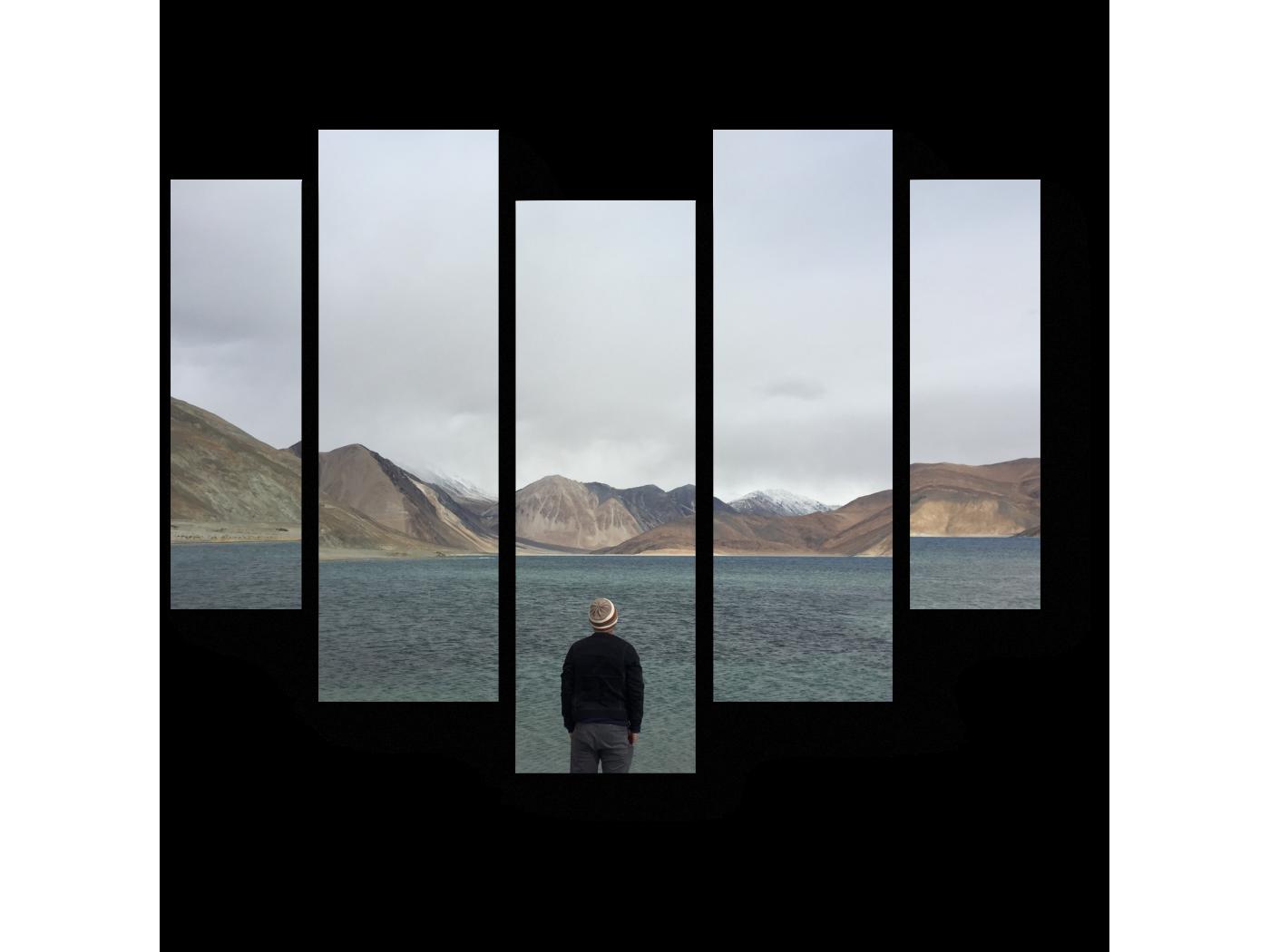 Модульная картина Наедине с собой (101x82) фото