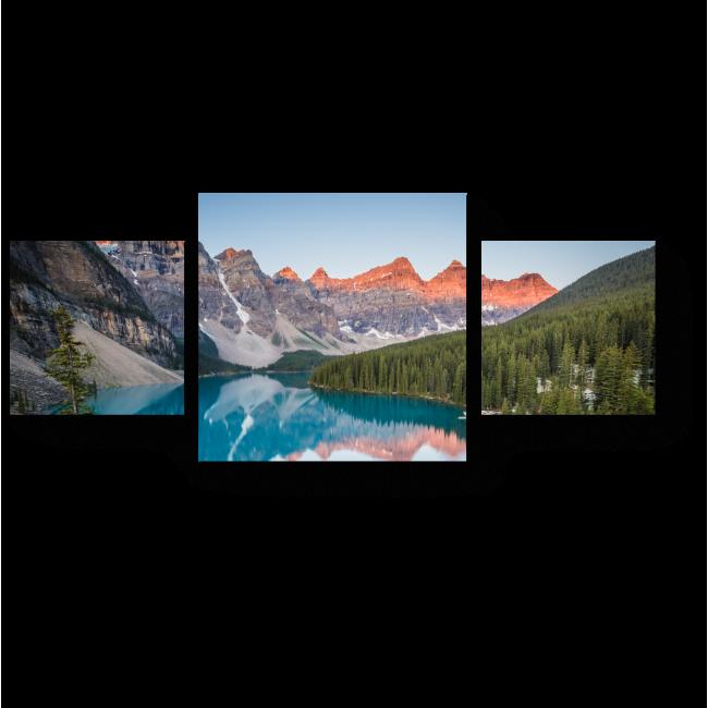 Модульная картина Озеро Морейн