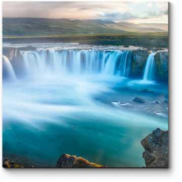 Модульная картина Годафосс — водопад в Исландии