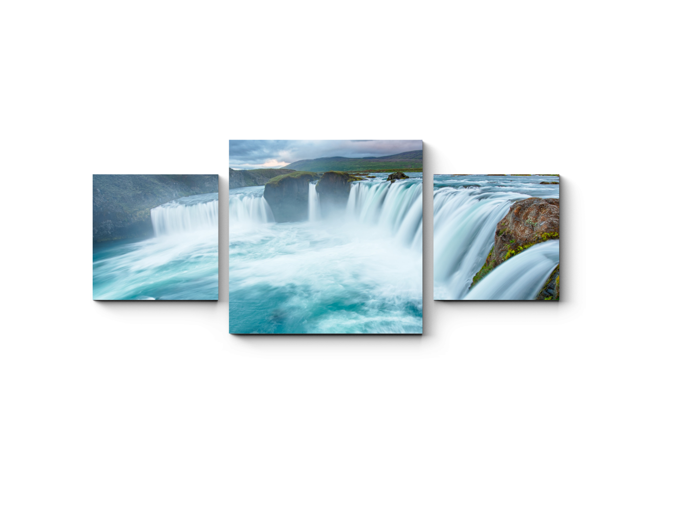 Модульная картина Водопад Богов - Годафосс (70x30) фото