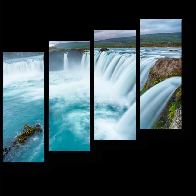 Модульная картина Водопад Богов - Годафосс