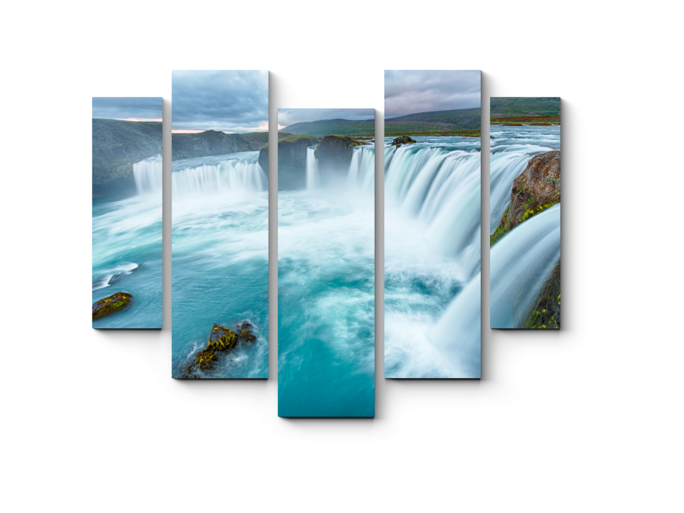 Модульная картина Водопад Богов - Годафосс (101x82) фото