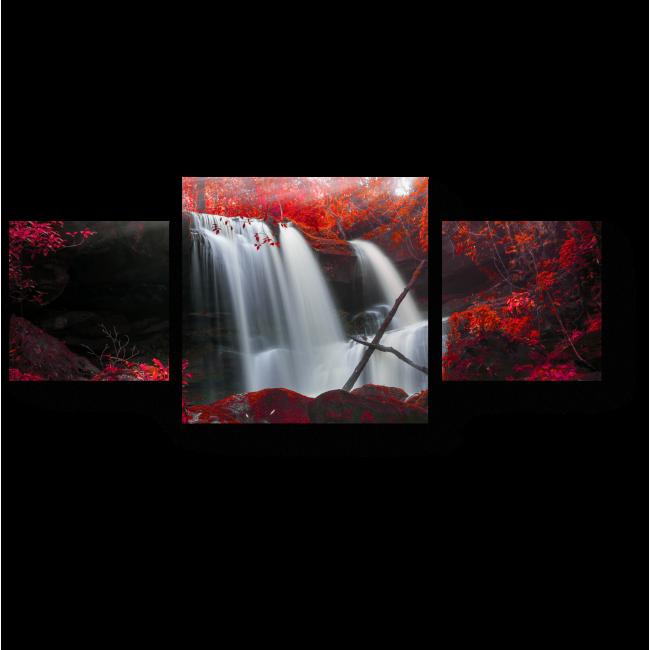 Модульная картина Осенний водопад в Таиланде