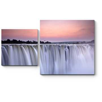 Модульная картина Водопад в утреннем свете