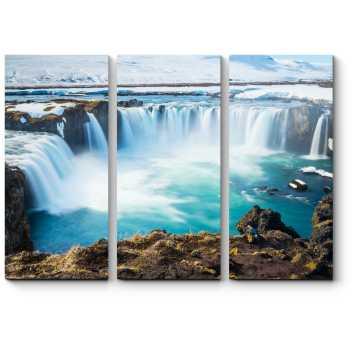 Модульная картина Грандиозный водопад Исландии