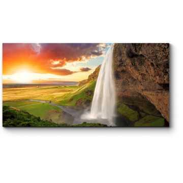 Модульная картина Живописный водопад в Исландии