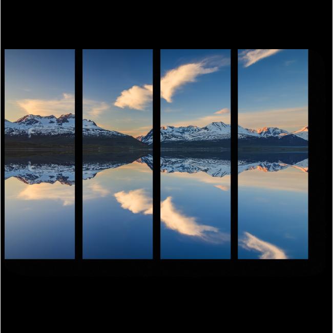Модульная картина Отражение гор