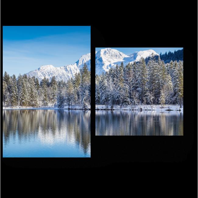 Модульная картина Красота горного озера