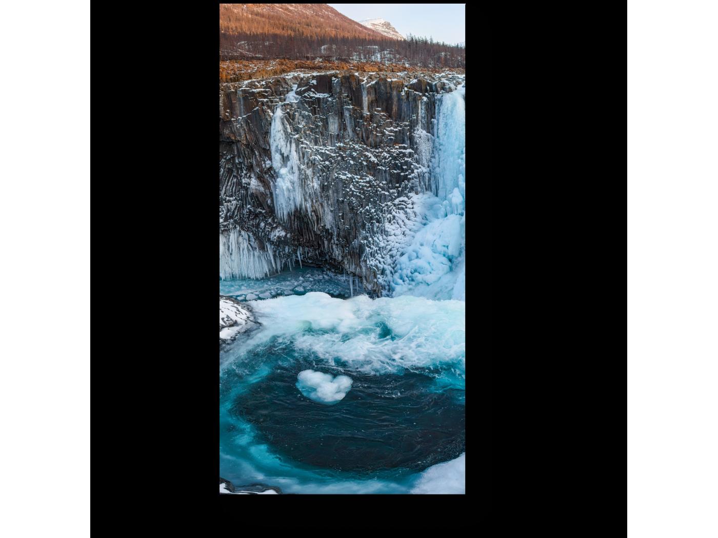 Модульная картина Водопад в плато Путорана (20x40) фото